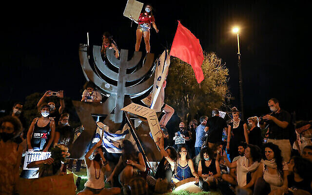 Demonstrations against Prime Minister Benjamin Netanyahu's handling of the pandemic and resulting economic crisis grow as more Israelis call for his resignation.