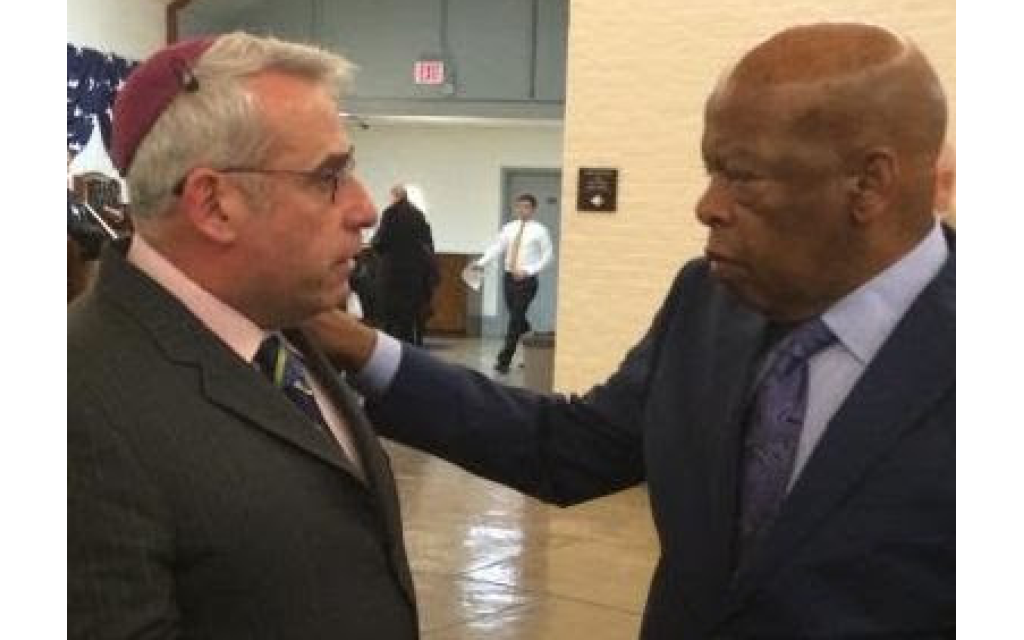 """Rabbi Joshua Lesser called John Lewis """"an incredible source of hope for the possible redemption of our country and of humanity."""""""