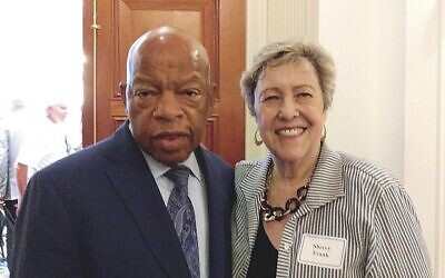 "Sherry Frank called her friend John Lewis ""a hero to the world, but he was a champion of causes central to the Jewish community."""