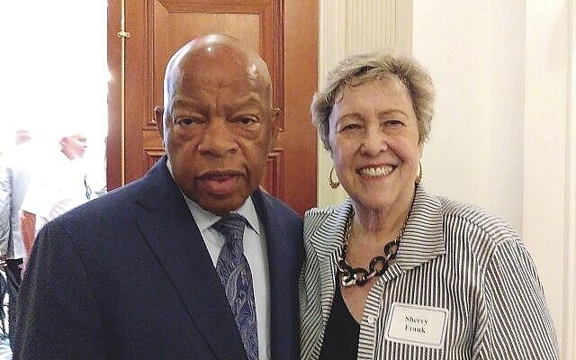 """Sherry Frank called her friend John Lewis """"a hero to the world, but he was a champion of causes central to the Jewish community."""""""