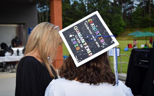 Each senior decorated their caps.