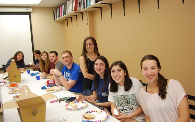 "Georgia College Goodrich Hillel does a ""Bagels and Schmear"" event for incoming freshmen every fall."