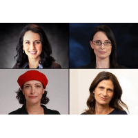 From top left, clockwise: Blue and White MK Hila Shay Vazan (Reuven Kopitchniski), Blue and White MK Einav Kabla (Courtesy), Blue and White MK Michal Cotler-Wunsh (Avishai Finkelstein), Blue and White MK Tehila Friedman (Courtesy)