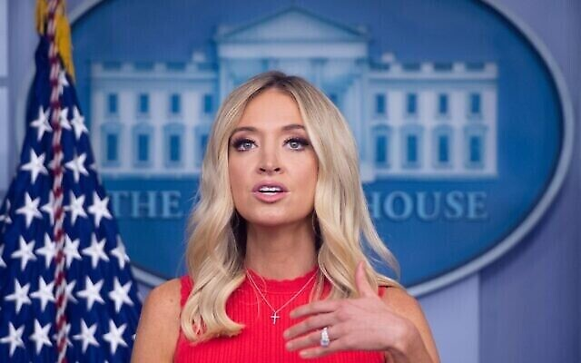 White House Press Secretary Kayleigh McEnany speaks to the press on June 10, 2020, in the Brady Briefing Room of the White House in Washington. (Saul Loeb/AFP)