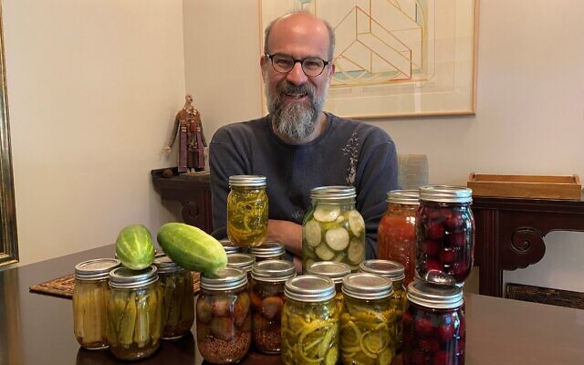 Rabbi Hillel Norry grows and pickles his own, including such ingredients as jalapenos, zucchini, cukes and tomatoes.