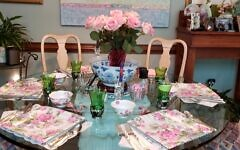 Martha Jo Katz's former at-home games showed her hostess skills with food and table settings.
