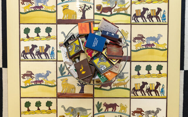 Jeff's mother gifted the hand-painted Israeli tiles that were constructed into a mid-century modern table in 1970.