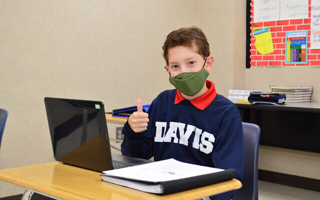Seventh grader Blake C. is ready to learn.