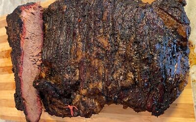 Blass takes 22 hours to achieve his perfect brisket.