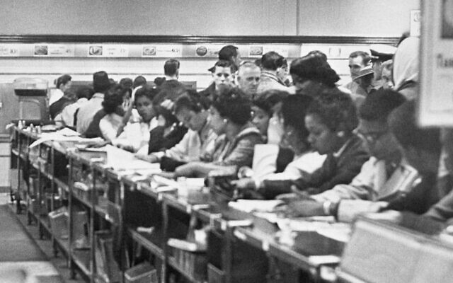 At Woolworth's lunch counter in 1960, black and Jewish youth sat together in a civil rights protest.