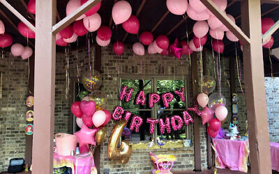 The lower deck was decorated in case of rain. Balloons by Gayle Rubenstein of Balloons Over Atlanta.
