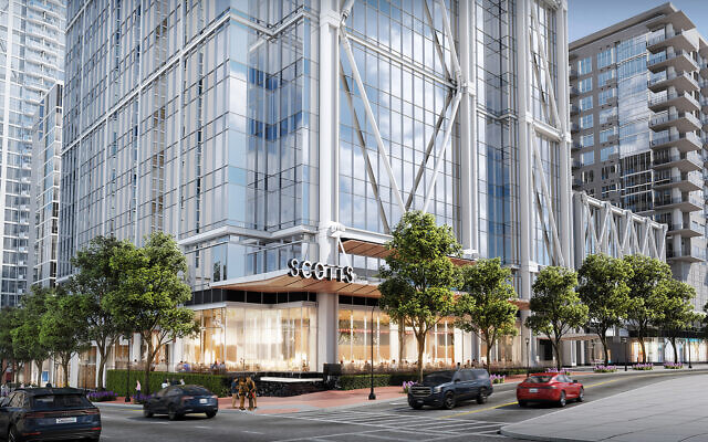 The retail space is located on the ground floor wrapping from West Peachtree and down 12th Street and Peachtree Walk, with a signature restaurant space planned for the corner.