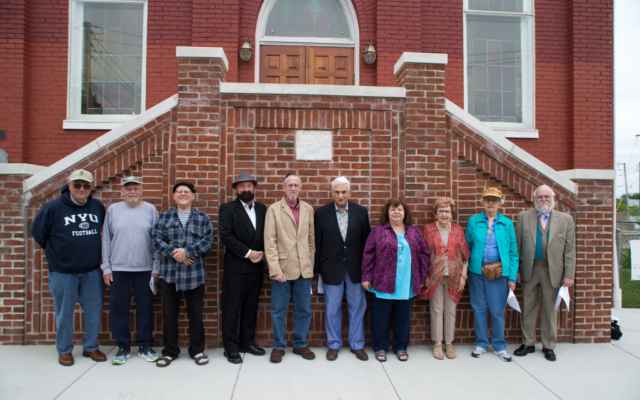Board members at the dedication of new stairs for the Historic B'nai Jacob Synagogue in Middletown, Pa.