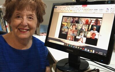 Esther Levine Zooms with members of the Gerson family tree.