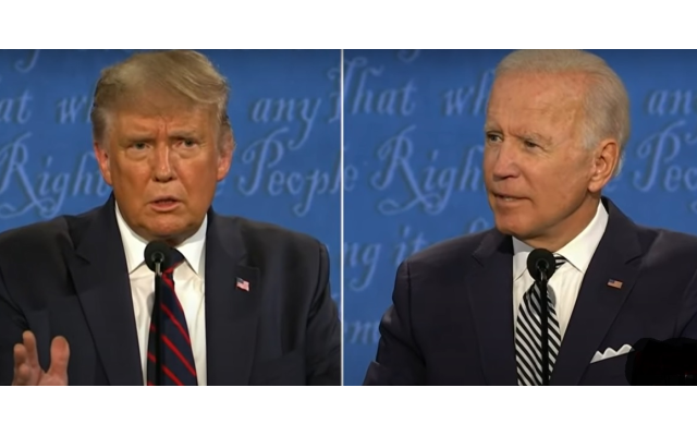Trump and Biden bumped heads on subjects including health care, policing and the environment at the debate Tuesday night in Cleveland.