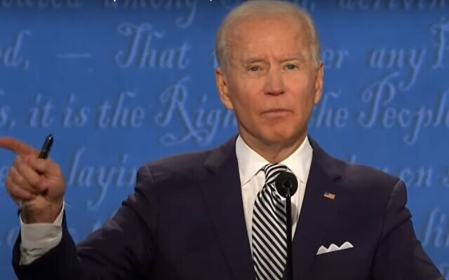 Former vice president Joe Biden spoke directly to the viewers at several times during the heated debate.