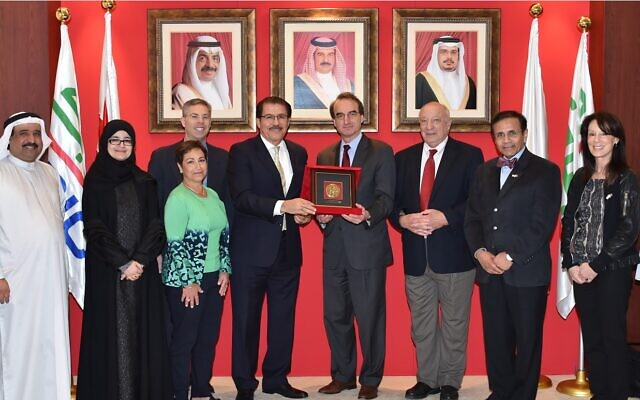 The AJC delegation at a meeting with a United Arab Emirates company.