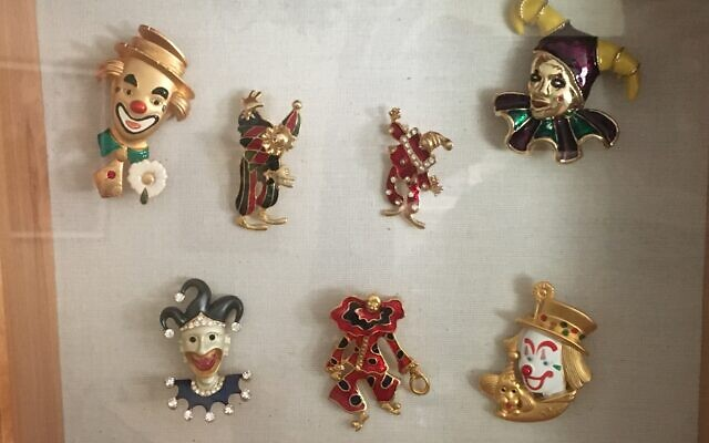V.E. Fintz has clown pins from everywhere, most of them gifts. She also owns valuable and vintage pins that she doesn't display