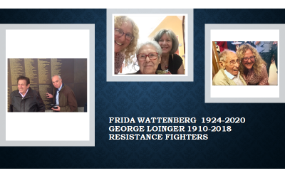 Famous French Resistance fighters Georges Loinger and Frida Wattenberg with Karen Rudel
