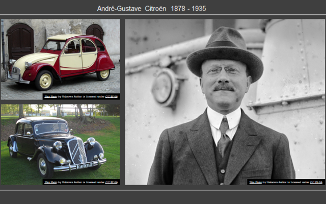 Andre Citroën, founder of Citroën automobiles.