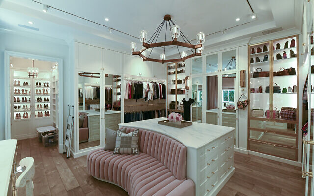 Sabrina's master closet was designed by Matthew Quinn. The lighting and compartmentalization rivals any Hollywood home.