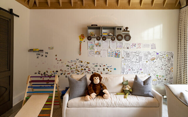 "The little boy's room has a sense of  ""monkey"" frivolity."