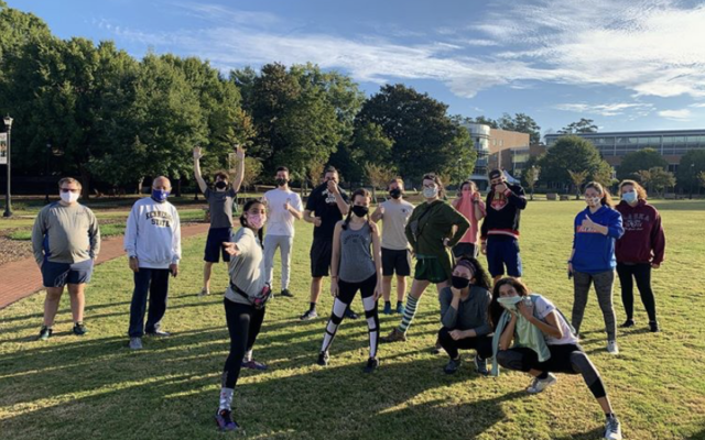 Every Monday morning, the Hillel at Kennesaw State University running club meets on campus for socially distanced exercise.