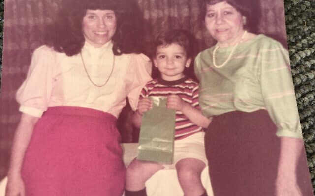 Donna Sabetai Krombach, mother Rica Sabetai, with Krombach's son Shmuli in the middle.