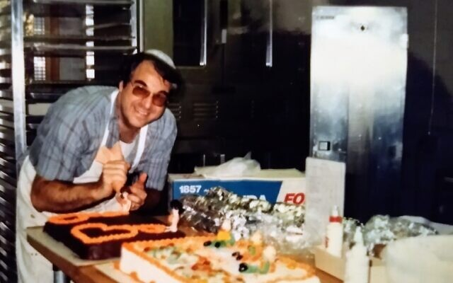 Bernie Idov works in his professionally outfitted home bakery.