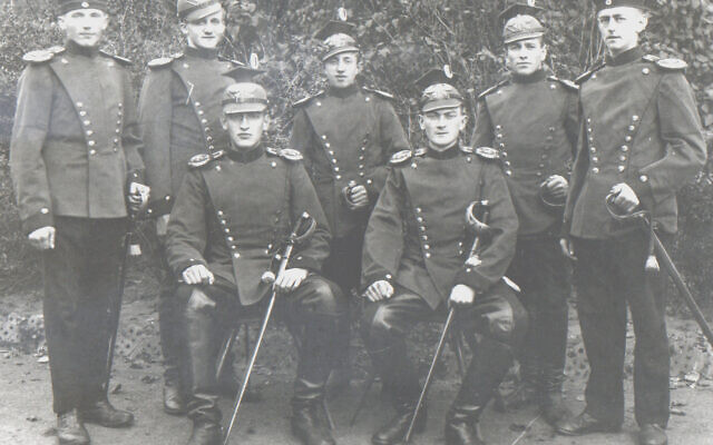 Photos courtesy of the Breman Jewish Heritage Museum //  Gisela Meyer Spielberg Family Papers //  Heinrich (Henry) Meyer, second from right, standing, as a German soldier in World War I. Circa 1918-19.