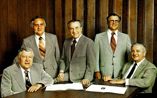 "The Alterman brothers exuded personality and management sechel.  From left: George, Dave, Izzy, Max, Sam. Izzy was ""the boss."""