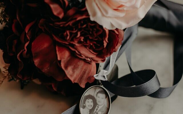 Nathalia Frykman Photography // Streetman's bridal bouquet contained a photo of her grandparents at their wedding.
