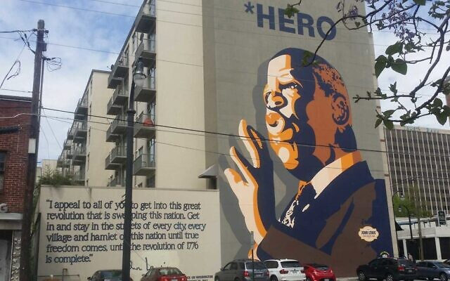 One of Atlanta's most impressive outdoor images is of the late civil rights icon John Lewis.