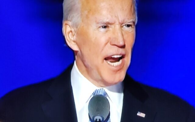 President-elect Joe Biden give his victory speech his home town of Wilmington, Delaware,