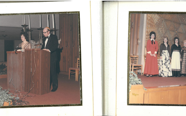 A scrapbook from the Jubilee anniversary (50th year) of the Ahavath Achim Sisterhood.