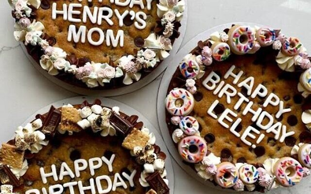 Lindsay Morrison's birthday cookie cakes are delicious and topped with sweets and treats.