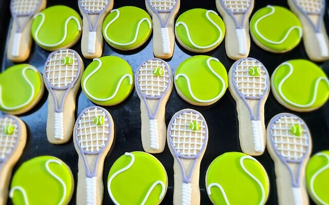 Michelle's tennis cookies are prefect FORE the tennis lover.