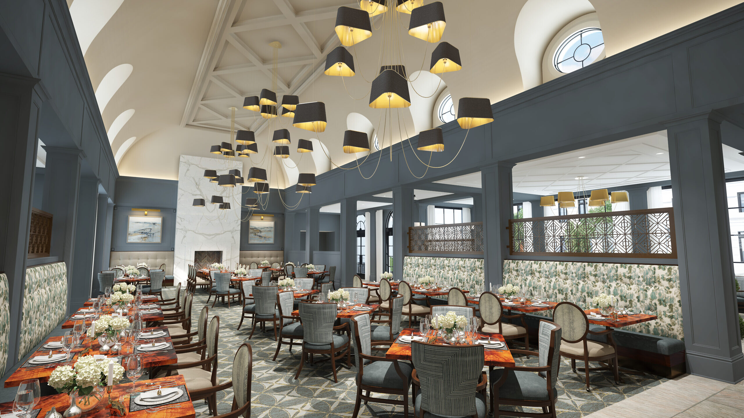 Corso offers a variety of dining venues from casual bistro to more formal settings.