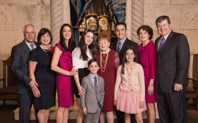 Stella Galanti with her extended family.