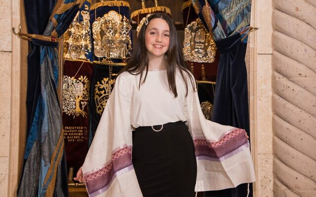 Stella Galanti had to learn two sets of Torah and haftorah readings. The first haftorah was very long and the second one, even longer.