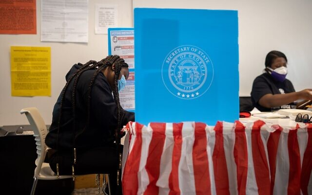 Vote being casted on election day Nov. 3 in Atlanta, Ga. // Nathan Posner for the AJT.