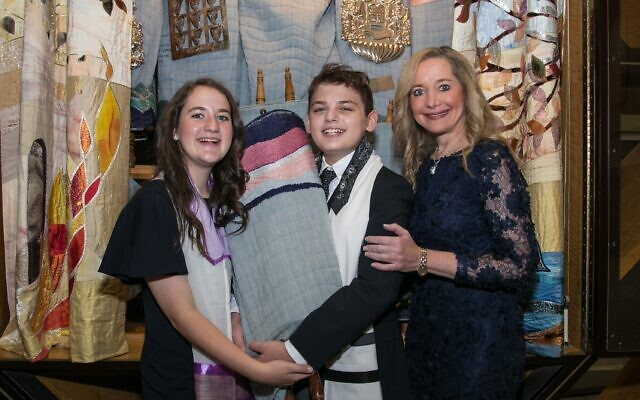 Jon Marks // Mother Ray Rothman commended Becca and Sammy for their commitment to each other and Judaism.