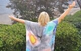 Jodi Wittenberg in one of her first original tie-dye caftans.