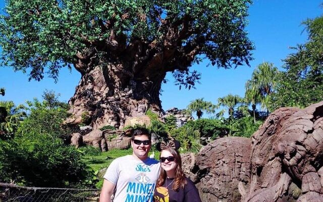 Harrison Levy proposed to Anna Streetman in front of the Tree of Life at Walt Disney's Animal Kingdom.