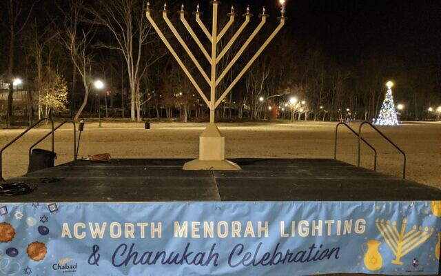 In Cobb County, Mayor Tommy Allegood of Acworth and Mayor Derek Easterling of Kennesaw hosted menorah lightings together with Rabbi Zalman Charytan of Chabad of Kennesaw. Menorah lightings also took place every night of Chanukah at the site of the future home of Chabad of Kennesaw.