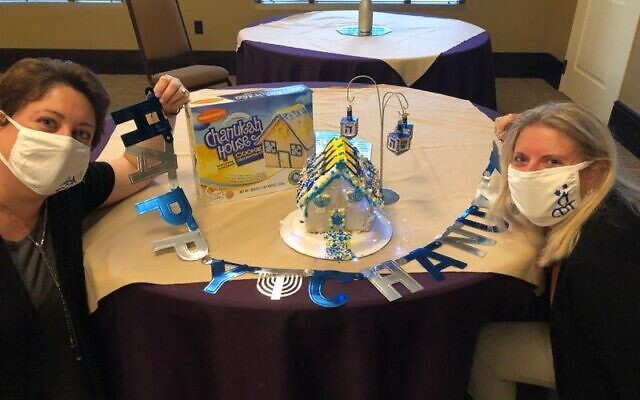 Rebecca Gordon of GLT and Molly Peled of CDT built a Chanukah House together.