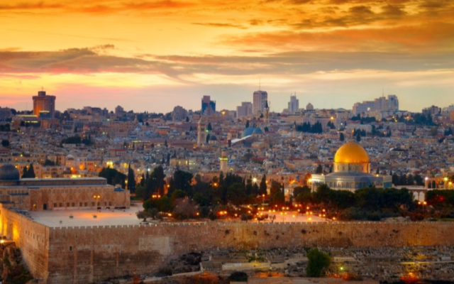 Photo from David Sussman Israel Tours // View of Jerusalem.