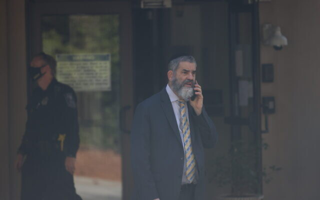 Rabbi Ilan D. Feldman at Congregation Beth Jacob  // Photo by Nathan Posner