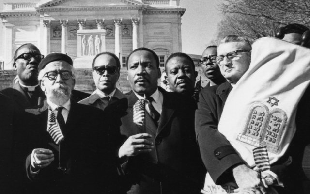 Dr. Martin Luther King with Rabbi Abraham Joshua Heschel, left, and Rabbi Maurice Eisendrath, head of American Reform Judaism, were prominent in the civil rights movement.