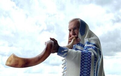 Members of the Toco Hills community took shofar blowing outdoors to congregants' neighborhoods.